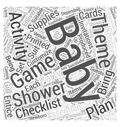 Baby shower supplies word cloud concept vector