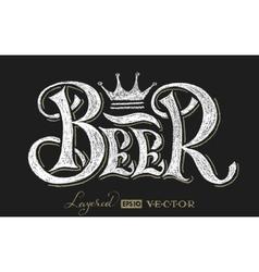 Beer lettering on chalkboard vector image