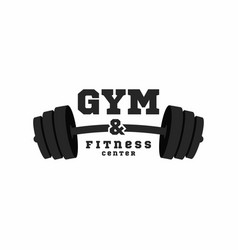 gym logo fitness center logo design template vector image vector image