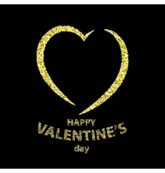 Happy Valentine s day greeting card vector image vector image
