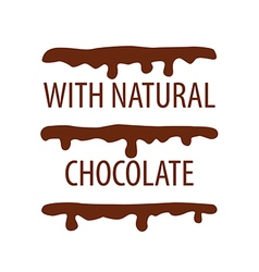 Logo cake with natural chocolate vector