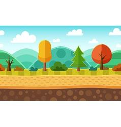 Seamless cartoon landscape vector image