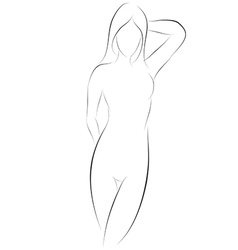 Sexy Girl Pose Graphic vector image