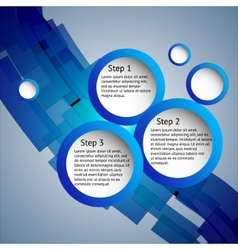Three steps vector image vector image