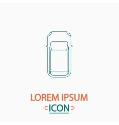 top view car computer symbol vector image