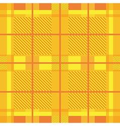 Yellow Tartan Print vector image