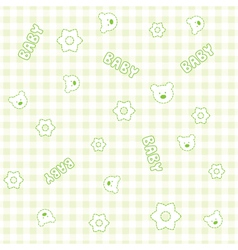 Baby Boy teddy Pattern vector image