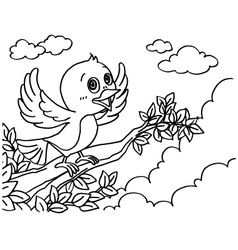Bird Coloring Pages vector image