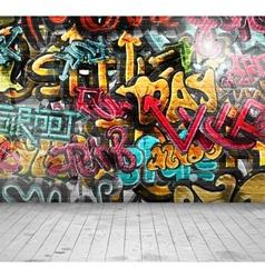 Graffiti on wall vector image vector image