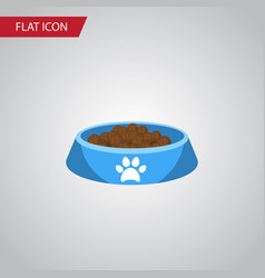 isolated kitty food flat icon cat eating vector image vector image
