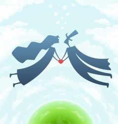 loving man and woman with vector image vector image