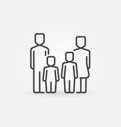parents and kids icon vector image