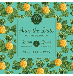 Save the Date - Wedding Invitation Card vector image vector image