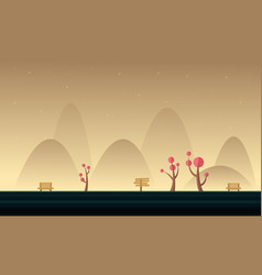 Background mountain landscape for game vector