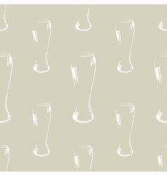Beer glass silhouette seamless pattern vector image