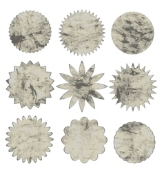 Collection of grunge shapes design elements for vector image vector image