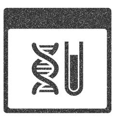 Dna analysis calendar page grainy texture icon vector