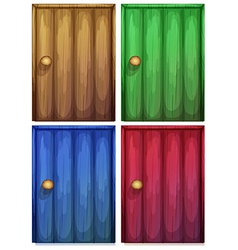 Four colourful doors vector image vector image