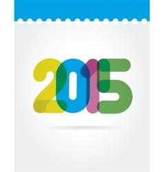 2015 symbols isolated on white background vector