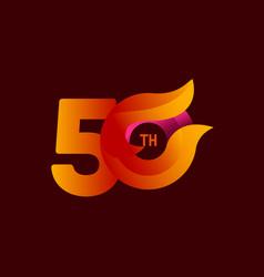 50 th anniversary celebrations orange template vector