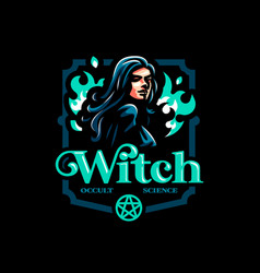 A female witch vector