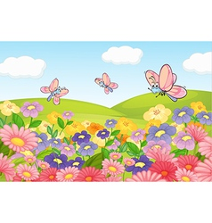 A flying butterflies vector image