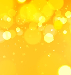 Abstract Bokeh Light Yellow Background vector