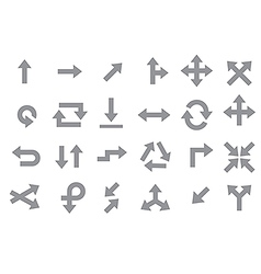 Arrows gray icons set vector image
