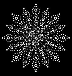 Australian mandala dot painting design vector