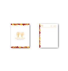Autumn letterhead design template vector