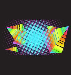 Background triangles 80s vector