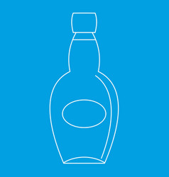 big bottle icon outline style vector image