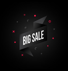 black friday advertising banner design modern vector image