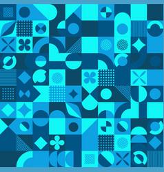 blue mosaic style background vector image