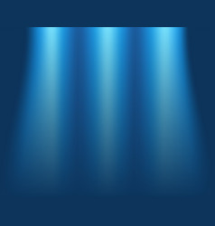 blurred blue background concept of light on stage vector image