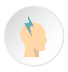 Brainstorming icon circle vector