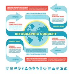 Business infographic concept - template vector image