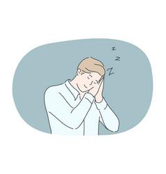 Business sleep fatigue dream relax insomnia vector