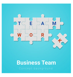 Business team concept background with jigsaw vector