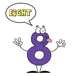 Cartoon digits vector image
