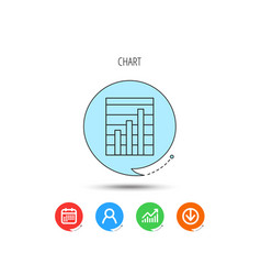 Chart icon graph diagram sign vector