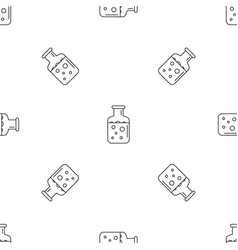 Chemical substance pot pattern seamless vector