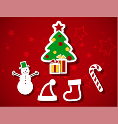 chrismas set vector image