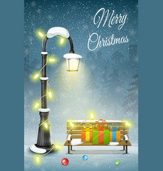 Christmas and new year typography greetings on vector