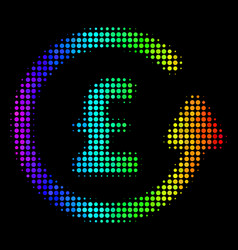 colored dotted chargeback pound icon vector image