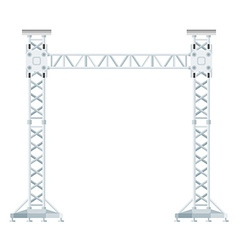colored flat style truss tower lift construction vector image