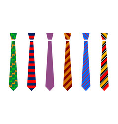 Colourful tie set vector