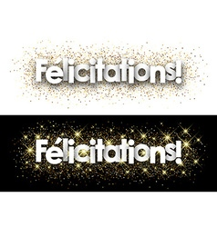 Congratulations paper banner vector image