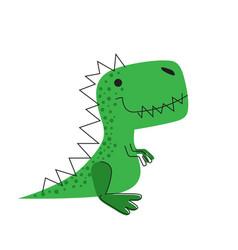 Cute dinosaur dino drawn for kids fashion vector