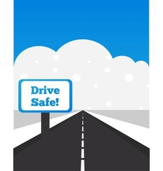 Drive carefully at winter time vector